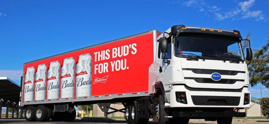 Camión Eléctrico De Fitro Lay Y Budweiser