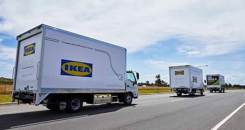 Camiones Electricos De Ikea Fabricados Por Sea Electric