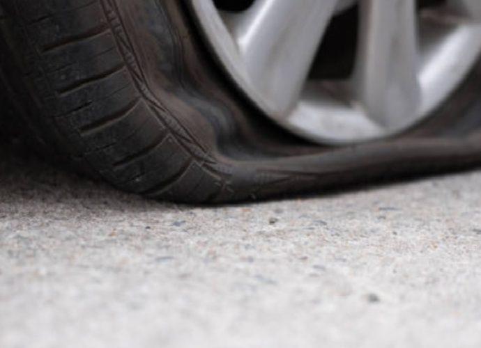 tus neumáticos pinchados